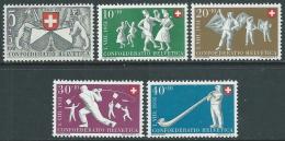 1950 SVIZZERA PRO PATRIA ZURIGO E FOLCORE NAZIONALE MNH ** - I53-9 - Pro Patria
