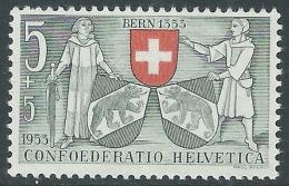 1953 SVIZZERA PRO PATRIA BERNA STEMMA 5 CENT MNH ** - I49-8 - Nuovi