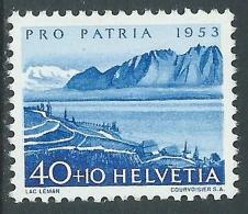 1952 SVIZZERA PRO PATRIA LAGHI E CORSI D'ACQUA 40 CENT MNH ** - I49-8 - Pro Patria