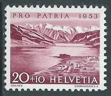 1952 SVIZZERA PRO PATRIA LAGHI E CORSI D'ACQUA 20 CENT MNH ** - I49-8 - Nuovi