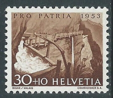 1952 SVIZZERA PRO PATRIA LAGHI E CORSI D'ACQUA 30 CENT MH * - I49-8 - Nuovi