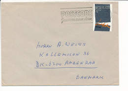 Mi 1240 Solo Cover Martin Luther 500th Birthday - 16 January 1984 Amsterdam To Denmark - 1980-... (Beatrix)