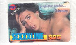MEXICO - Girl, SEXXXLINE By MST Prepaid Card $25, Mint - Mexico