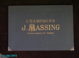POC1    022  ...CHAMPAGNE  J. MASSING   PRODUCTEUR A AY  ECRITOIRE DE  52 X 36 Ouvert ETAT  DU NEUF  DORURES FERRURES  . - Alcoholes