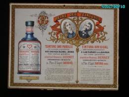 POC1    031  .TEINTURE SANS PAREILLE  VALREAS VAUCLUSE LITHO NERSON  Dorures Carton  Cheveux Barbe Coiffure 30 X 29 Cm - Paperboard Signs