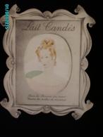 POC1   038    LAIT   CANDES  .Signé Simone BAUDOIN  1939  , Océa Paris, RARE  Carton 38 X 31   FEMME ROUSSE - Paperboard Signs