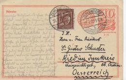 M 1  Ganzsache Deutsches Reich Mit 5 Pfg. Papierpreiszuschlag ( Zehlendorf Wannseebahn ) 1922 - Deutschland