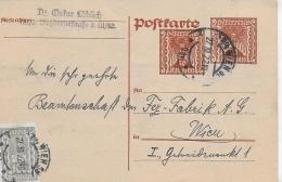 M 1  Postkarte Österreich 50 Kronen Mit Zusatzfrankatur Um 1922 - 1918-1945 1. Republik