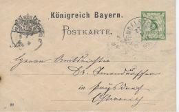 M 1  Postkarte Königreich Bayern Um 1899 - Bayern