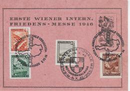 M 1  Sonderbeleg Erste Wiener Intern. Friedens-Messe 1946 - 1945-.... 2. Republik