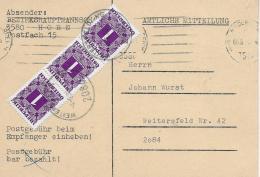 M 1  Amtliche Mitteilung BH Horn - 3 S Nachporto Um 1976 - Portomarken
