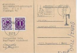 M 1  Amtliche Mitteilung BH Horn - 3,50  S Nachporto Um 1976 - Portomarken