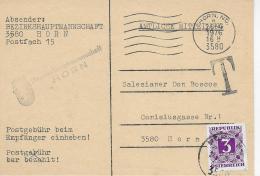 M 1  Amtliche Mitteilung BH Horn - 3  S Nachporto Um 1976 - Postage Due