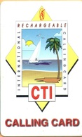 Puerto Rico - CTI, International Rechargeaable, Thin Plastic, 10$, 21000ex, Used - Puerto Rico
