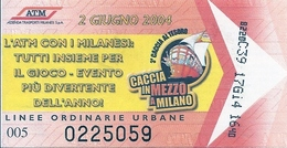 Biglietto  LINEE ORDINARIE URBANE -   Città Di   MILANO  - Anno  2011 - Europe