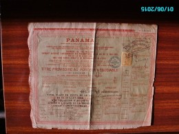 ACT1     00086    ACTION  .1888 . PANAMA  CANAL  INTEROCEANIQUE  TITRE   TIMBRE - Navigation