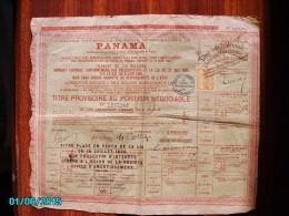 ACT1     00087    ACTION  .1888 . PANAMA  CANAL  INTEROCEANIQUE  TITRE   TIMBRE - Navigation