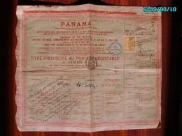ACT1     00088    ACTION  .1888 . PANAMA  CANAL  INTEROCEANIQUE  TITRE   TIMBRE - Navigation