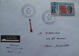 A104 - LETTRE - POLYNESIE FRANCAISE >>> CàD : MARSEILLE ST CHARLES PAQUEBOT 20 DECEMBRE 1976 - Polynésie Française