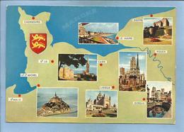 Normandie Dieppe Le Havre Caen Rouen Evreux Lisieux Mont-Saint-Michel 2 Scans Blason 01-09-1972 Saint-Lô Cherbourg - Haute-Normandie