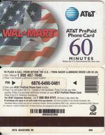 ALASKA - Flag, Wal Mart, AT&T Magnetic Prepaid Card 60 Min, Used - Telefoonkaarten