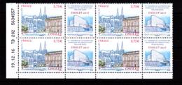 Coin Daté France 2017, Bloc 0.73 € X 4 CD 19.12.16 TD 202 / Sans Trait / Cholet, Congrès Fédération Des Associations Phi - Dated Corners