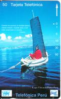 PERU(Tamura) - Lago Titicaca/Puno(0017), CPT/Telefonica/Entel 50 Units, 12/94, Used - Peru