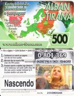 ALBANIA - Alban Tirana Prepaid Card 500 Leke, CN : 13 Digits, Used - Albania