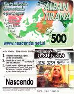 ALBANIA - Alban Tirana Prepaid Card 500 Leke, CN : 8 Digits, Used - Albania