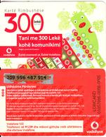 ALBANIA - Vodafone Prepaid Card 300 Leke, Used - Albania