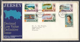 Fdc Jersey - Decimal Low Value Definitive Issue - Jersey Channel Islands (15 February 1971) - Jersey