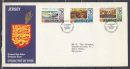 Fdc Jersey - Decimal High Value Definitive Issue - Jersey Channel Islands (1 October 1970) - Jersey