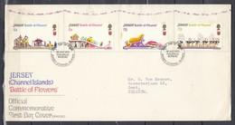 Fdc Jersey - Battle Of Flowers - Jersey Channel Islands (28 July 1970) - Jersey