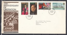 Fdc Jersey - 25th Anniversary Of Liberation - Jersey Channel Islands (9 May 1970) - Jersey