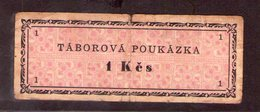 Czechoslovakia Prison Camp Voucher  1 Kcs Ostrov U Karlových Varu, Very RARE!!!!! - Tchécoslovaquie
