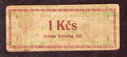 Czechoslovakia Prison Camp Voucher  1 Kcs Ostrov, Very RARE!!!!! - Tchécoslovaquie
