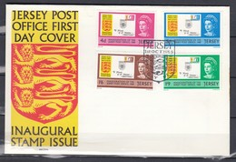 Fdc Jersey - Inaugural Stamp Issue - Jersey Post Office First Day Cover (1 Ocotober 1969) - Jersey
