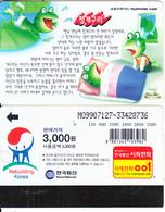 SOUTH KOREA - Green Frog, Korea Telecom Telecard(W3000), 07/99, Used - Korea, South