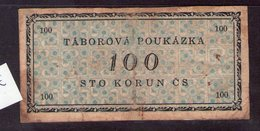 Czechoslovakia Prison Camp Voucher  100 Korun Ostrov U Karlových Varu, Very RARE!!!!! - Tchécoslovaquie