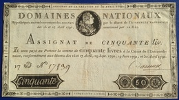 France 50 Livres 1790 - ...-1889 Anciens Francs Circulés Au XIXème