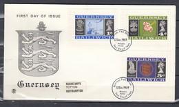 Fdc Guersney - Guersney Post Office (12 December 1969) - Guernesey