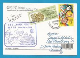 "Schiffspost -  "" Gorck Fock "" - St.Petersburg - Postkarte - Post"