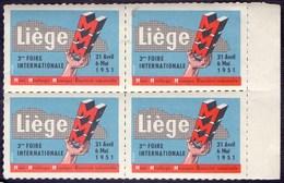LIEGE - FAIR  MINEE & METALLURGIE - Bl. Of 4x - **MNH - 1951 - Minerali