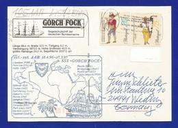 """Schiffspost -  """" Gorck Fock """" - Lissabon - Postkarte - Post"""