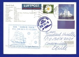 "Schiffspost -  "" Gorck Fock "" - Kiel - Postkarte - Post"