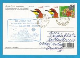 "Schiffspost -  "" Gorck Fock "" - Porta - Postkarte - Post"