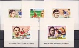 Soccer Football Congo Luxes 614/8 1978 World Cup Argentina MNH ** - Coupe Du Monde