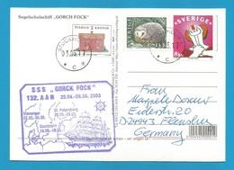 "Schiffspost -  "" Gorck Fock "" - St. Petersburg - Postkarte - Post"