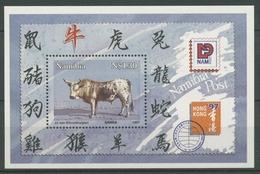 Namibia 1997 Chines. Neujahr Jahr Des Ochsen Block 26 I Postfrisch (C25035) - Namibia (1990- ...)
