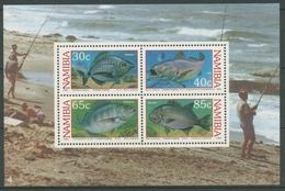 Namibia 1994 Küstenangeln Fische Brasse Adlerfisch Block 19 Postfrisch (C25041) - Namibia (1990- ...)